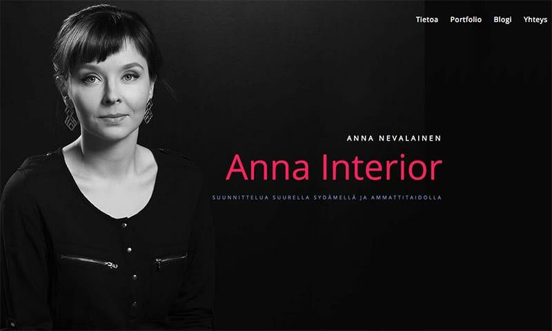 AnnaInterior-nettisivut